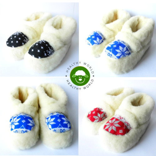 25% OFF NOW! Women's/Man's/Teens Slippers SHEEP WOOL - DOUBLE LAYER, Rubber Sole