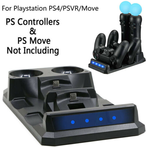 4in1 Game Controller Charging Dock Gamepad Charger Stand For VR PS4 PSVR Move 1