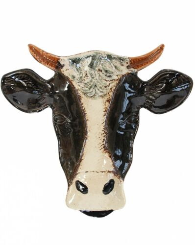 Black & White Holstein, Friesian Dairy Cow Decorative Plate - Large