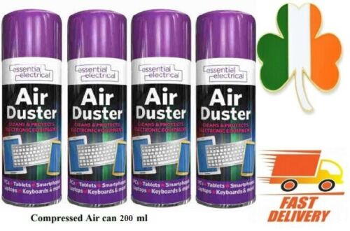 4 X Compressed Air Duster Spray Can Cleaner Protects Laptops Keyboards mobiles