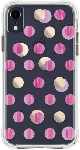 Apple iPhone XR Case Case-Mate Wallpapers Pink Dot Protective Cover - New