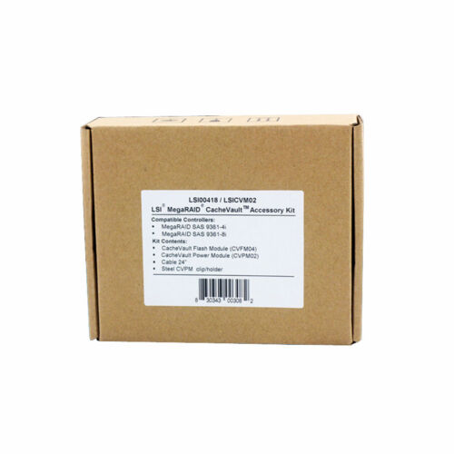 NEW Genuine LSI LSICVM02 LSI00418 CacheVault Kit 9361-8i 2 GB Free Shipping