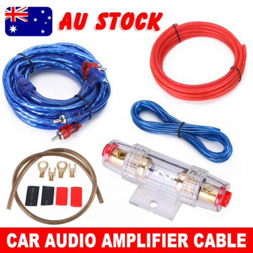 Car AMP Wiring Kit Subwoofer Sub Amplifier Audio RCA Cable Wires FUSE AGU 1200W