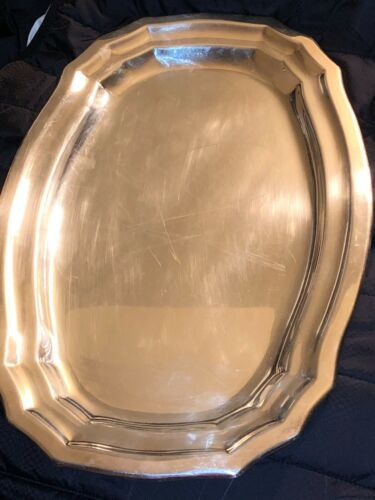 CHRISTOFLE FLEURON FRANCE  SILVER PLATED VINTAGE 16 x 101/2 Tray