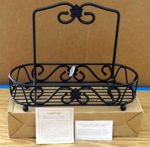 Longaberger Wrought Iron TABLE TOP CADDY / HOLDER - Condiments + More - NEW