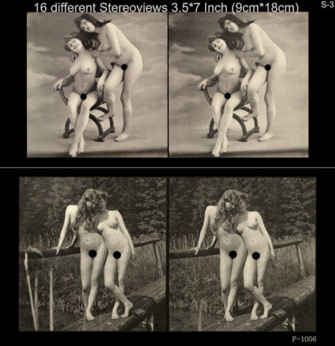 16 artful Stereoviews french Nude 1910 France Paris Lot 3