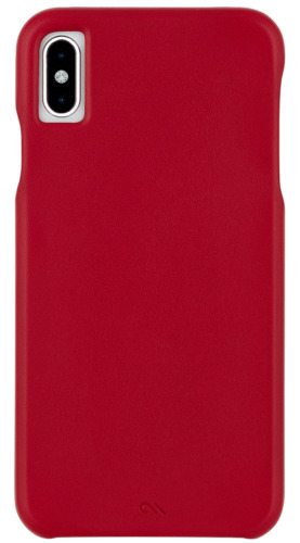 iPhone Xs Max Case-Mate Barely There Leather Protective case - Red