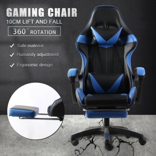 Gaming Chair Office Chair Computer Executive Chairs Seating Footrest Racer