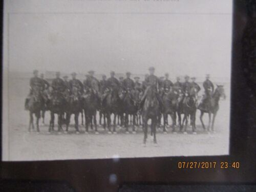 👍 1900s CHINA QING NEW INFANTRY AND CAVALRY TROOP GLASS PHOTO NEGATIVE 大清新式陆骑军