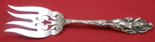 Love Disarmed by Reed and Barton Sterling Silver Beef Fork Pierced Old 7 1/2""