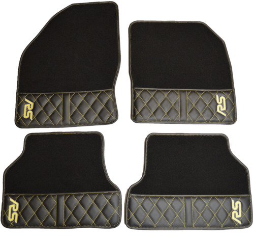 Ford Focus MK2 RS Floor Mats - Luxury Carpet & Diamond Stitched Inserts
