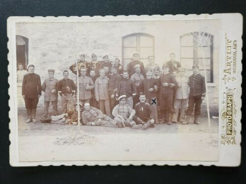 1900s CHINA BOXER REBELLION EIGHT NATIONS ALLIES SOLDIERS CABINET CDV PHOTO 八国联军