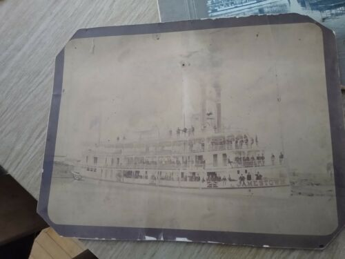Rare Jamestown Steamboat Paddle Steamer NY Chautauqua John Moulton Mayville <br/> Boat New York Barton Jones