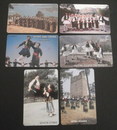 GRIECHENLAND LOT 6 PHONECARDS WITH THEME: GREEK TRADITIONAL DANCE GREECE GRECIA