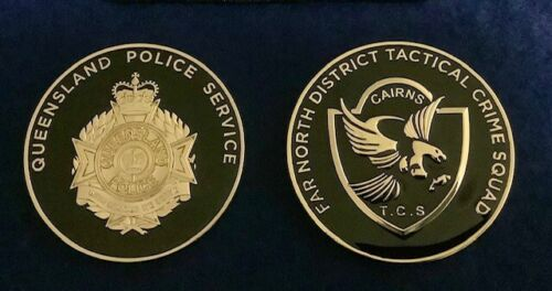 Police challenge coin australia Large 50 MM Coin Of The Tactical Crime SquadModern, Current - 36066