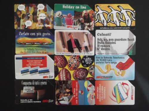 ITALIA ITALY LOT OF 12 DIFFERENT PHONECARDS !!!