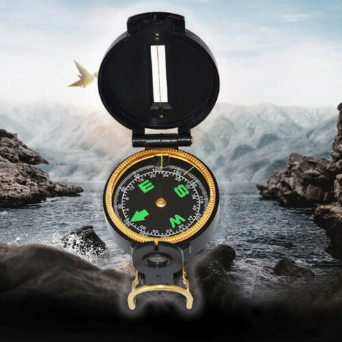 1pc Portable Folding Lens Compass Military Multifunction Outdoor  CompassB^qi