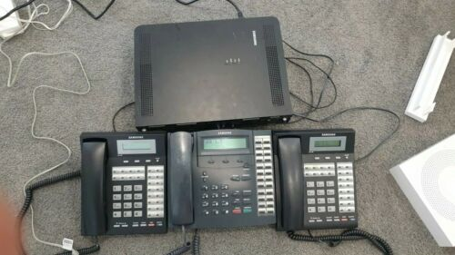 Samsung officeserv 7030 telephone system + 3 handsets.  Expandable to 6 phones