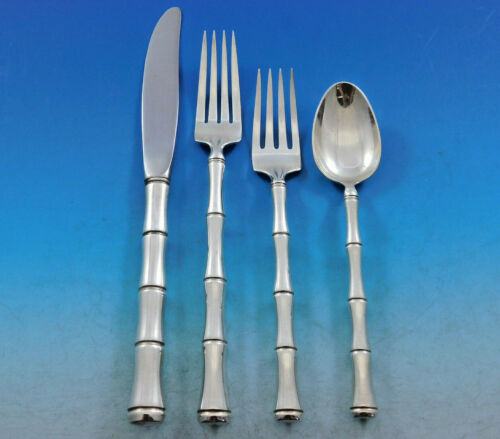 Mandarin by Towle Sterling Silver Flatware Set for 12 Service 49 Pieces Bamboo