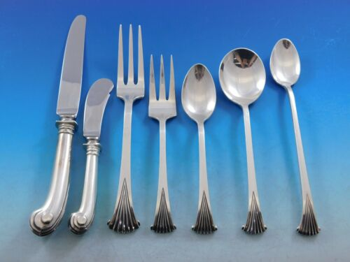 Onslow by Tuttle Sterling Silver Flatware Set for 12 Service 108 Pieces Carter
