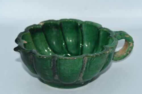 Genuine Ancient Islamic Umayyad Caliphate Ceramic Lobed Cup Perfectly Intact