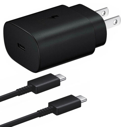 Samsung Galaxy S20 S20+ S20 Ultra Note 10 25W 5G Super Fast Wall Charger +Type-C
