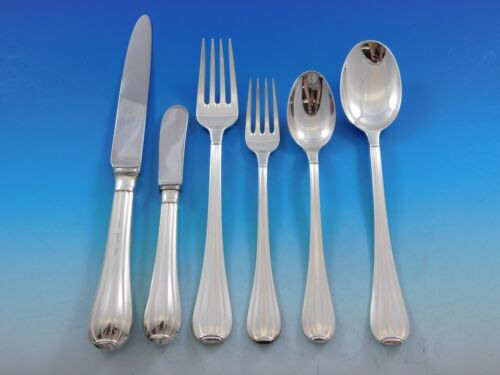 Meridiani by Ricci 925 Sterling Silver Flatware Set Service 48 Pieces Italy