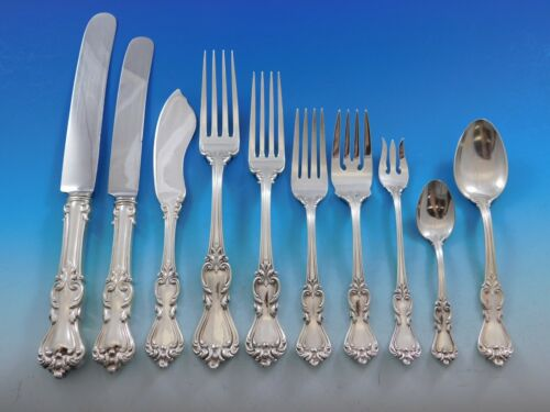 Marlborough by Reed & Barton Sterling Silver Flatware Set Service Dinner 85 pcs