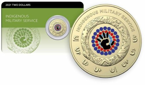 Australia: 2021 $2 ANZAC Indigenous Military Service  Al-Br Coin Pack