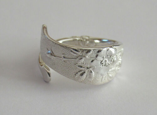 Sterling Silver Spoon Ring - Tiffany / Wild Rose - spiral - FREE 1 DAY SHIPPING