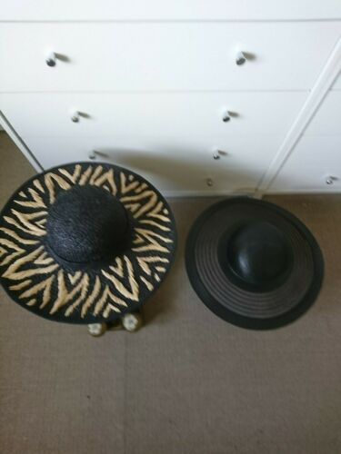 2 WIDE BRIMMED WOMENS  STRAW HATS BOTH NEW 1 LIZ CLAIBORNE&1 MADE  IN UK