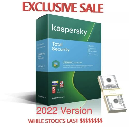 Kaspersky Total Security 1 Device 1 Year -  Key is E-Mailed