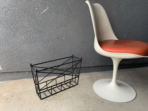 Iron MAGAZINE RACK Mcm Catch All MID CENTURY Umanoff EAMES ERA