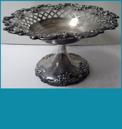 Towle for BIGELOW, KENNARD & Co sterling silver pierced COMPOTE