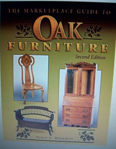 ANTIQUE OAK FURNITURE $$ Price Guide COLLECTORS BOOK Desk Chairs Chest Table ++