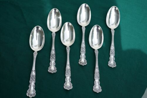 """GORHAM STERLING SOUP SPOONS  SIX  6 7/8"""" """"BUTTERCUP"""" PATTERN"""