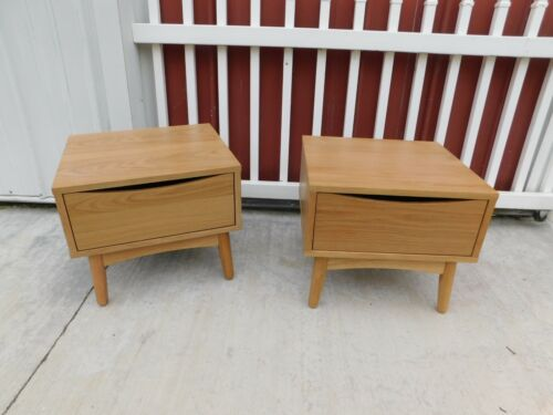 Article MidCentury Modern American White Oak Culla Collection Night Stand Tables