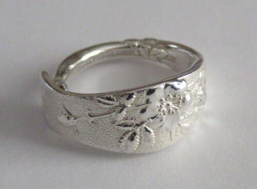 Sterling Silver Spoon Ring - Tiffany / Wild Rose - 1872 - FREE 1 DAY SHIPPING