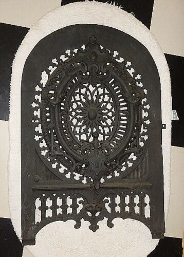 Antique 1800's W.H. Jackson  New York Cast Iron Summer Fireplace Cover   No 891