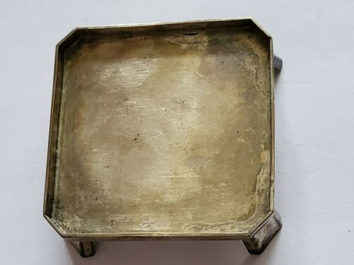 👍 CHINA MINIATURE SOLID SILVER SQUARE PLATE TRAY WITH SILVERSMITH HALLMARK 纯银
