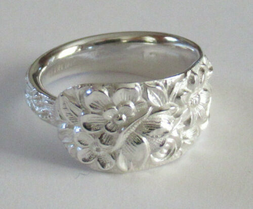 Sterling Silver Spoon Ring - Kirk & Son Co / Repoussé - FREE 1 DAY SHIPPING