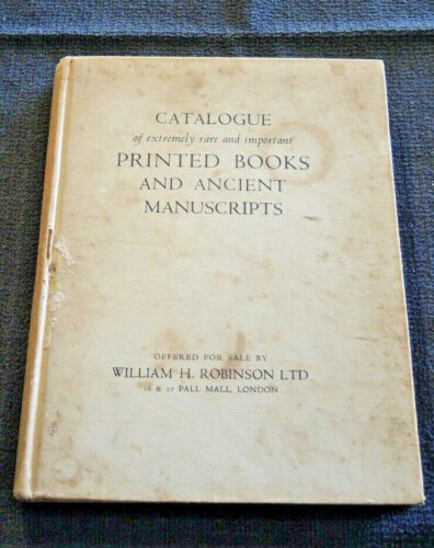 W H ROBINSON'S BOOKSELLER'S CATALOGUE 77 1948 Ex Libris Cyrill Pearl