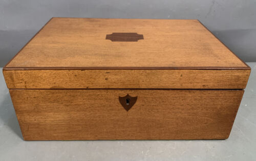 Antique VICTORIAN Style SEWING NOTIONS Old LADIES Jewelry DRESSER Traveling BOX
