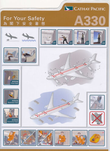 CATHAY PACIFIC AIRWAYS   A330   2011   Safety Card