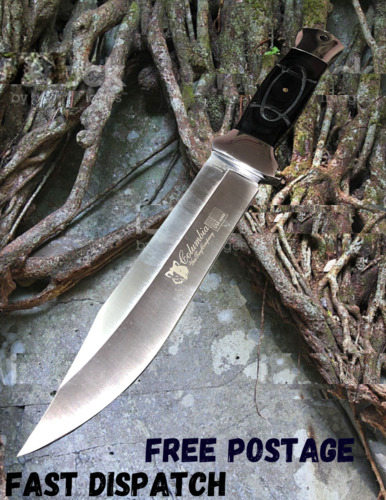 COLUMBIA Fixed Blade Knife Large Bowie Camping Hunting Survival Full Tang Knife Knives - 42574