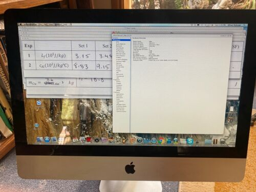 Apple Imac white case, keyboard and mouse included