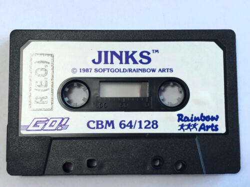 Jinks Go! Game Commodore 64 C64 128 Softgold Rainbow Arts Cassette Tape