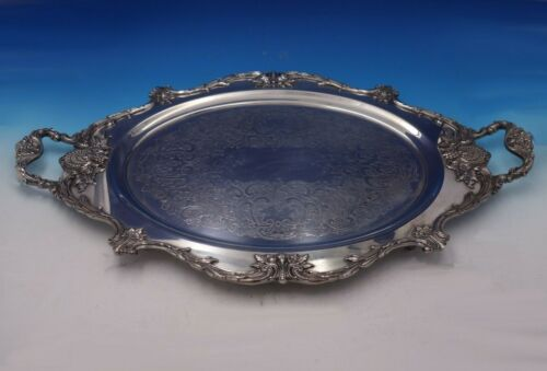 """Sir Christopher by Wallace Silverplate Tea Tray with Handles #597F 31"""" (#5250)"""