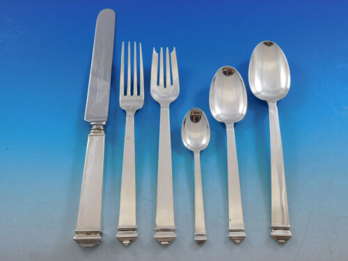 Hampton by Tiffany and Co Sterling Silver Flatware Set for 8 Service 48 pieces