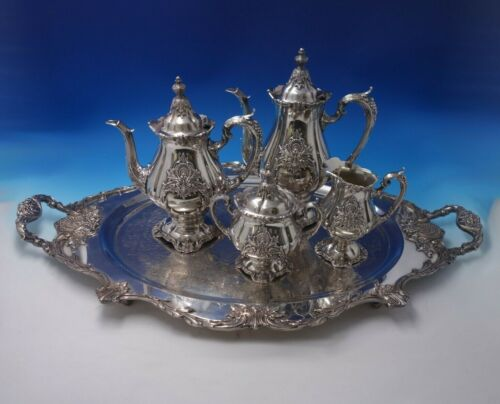 Sir Christopher by Wallace Silverplate Tea Set 5pc (#5138)